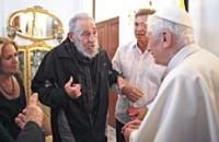 Fidel con Benedicto XVI