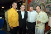Miguel Franjul, Editor de Listin Diario; Bob Menéndez, Salomón Melgen y Vinicio Castillo, prominente abogado dominicano