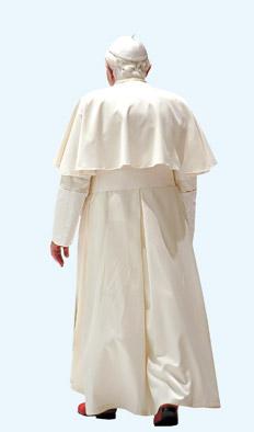 vaticano papa de espaldas