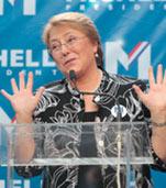 Bachelet a la carga