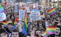 Manifestación homosexuales gays Paris Francia