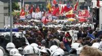 Protestas también en Fracfort