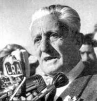 El radical Arturo Illia era el presidente argentino