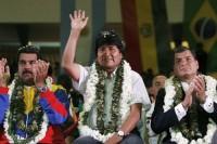 Rafael Correa, Nicolas Maduro, Evo Morales