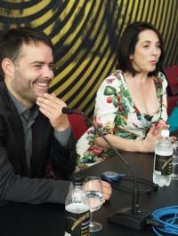 Festival Locarno b Sebastian Lelio y Paulina Garcia foto  Sergio Ferrari