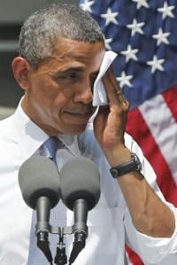 obama casi nada lo del ojo