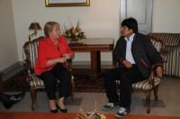 ch Bachelet y evo