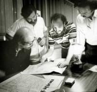 Creando Noticias en 1973, junto a Oscar Smoje, Aram Aharonian y Paco Urondo