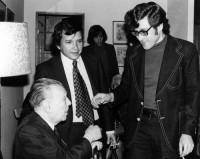 Con Jorge Luis Borges, en 1973
