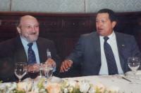 Aram Aharonian y Hugo Chávez