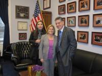 Ileana-Ros-Lehtinen con Yuri Lopez y Gerardo Toledo
