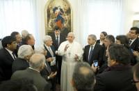 vaticano bergo con sindicalistas arg
