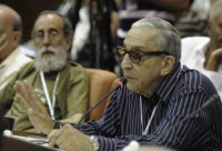 Formell interviene durante el VIII Congreso de la Unión de Escritores y Artistas de Cuba, UNEAC, abril 2014