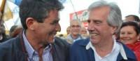 Raúl Sendic (h) y Tabaré Vázquez