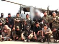 En el centro de la foto, Abu Anisah al-Khazakhi, el primer yihadista chino del «Emirato Islámico» muerto en combate, no era uigur sino kazajo.
