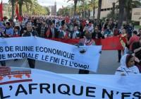 Foro Social Mundial 2013 marcha de apertura en la capital  de Tunez foto Sergio Ferrari