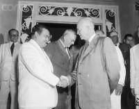 General Fulgencio Batista, dictador cubano, con Dwight Eisehower