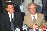 Vázquez y su canciller Rodolfo Nin Novoa