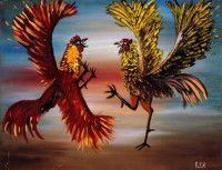 gallos pintura