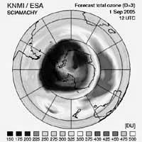 Hoyo en capa de ozono sobre la Antártica es como Europa